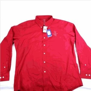Antigua Men's NBA Dynasty Size XL Red Dress Shirt